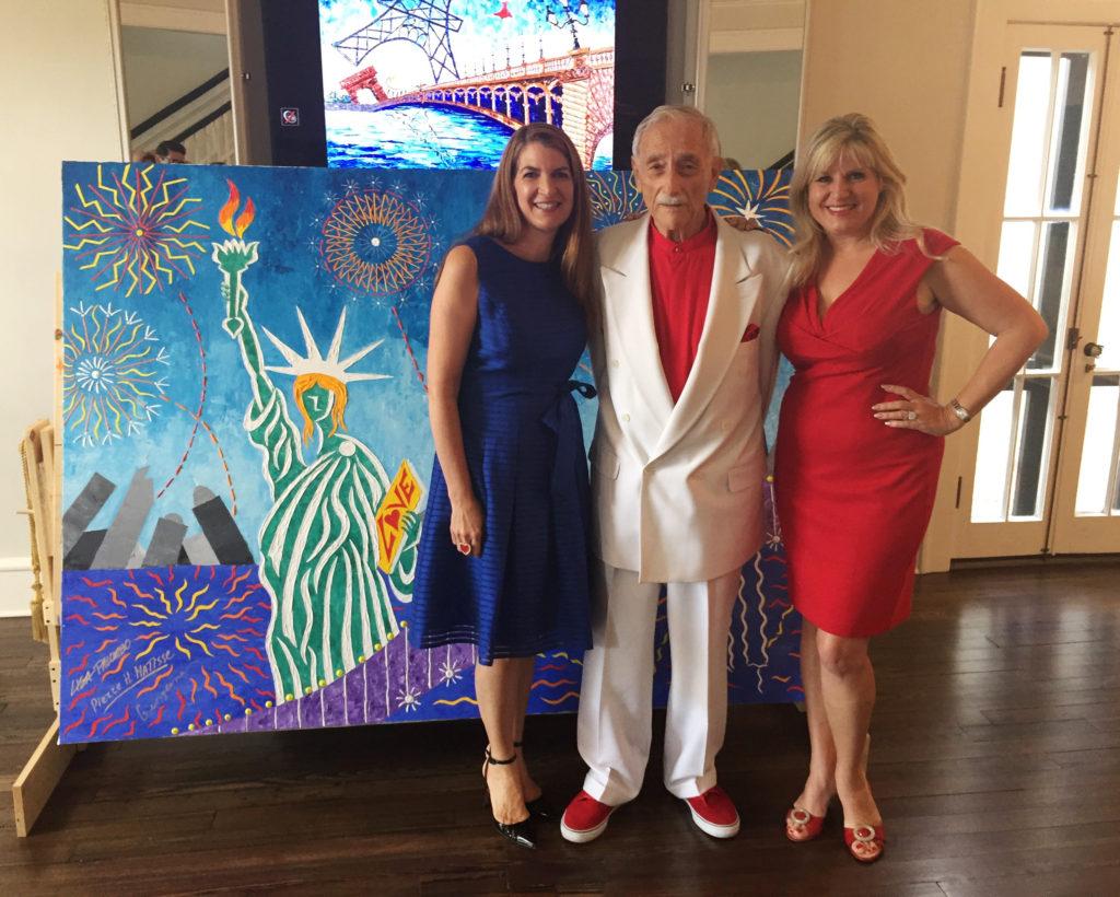 Lisa Palombo, Pierre H. Matisse, Georgeana Ireland at the Albin Polasek Museum, Winter Park, FL